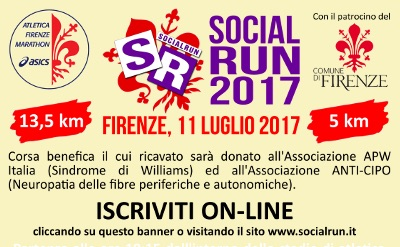 Social Run corre per APW Italia – Sindrome di Williams